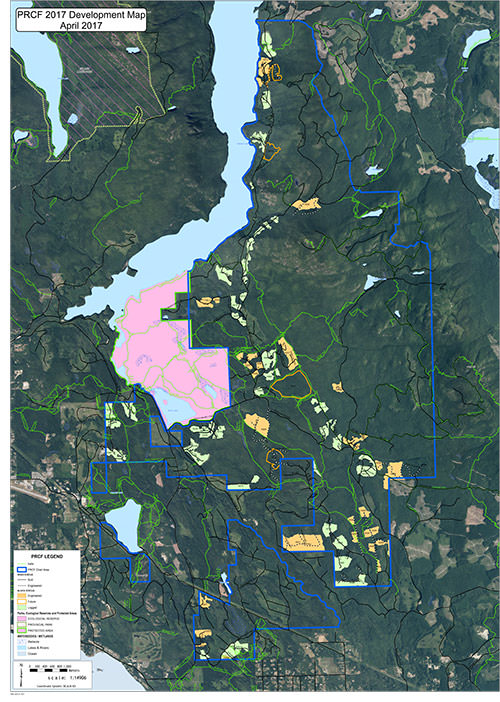 Powell River Community Forest 2017 Development Map
