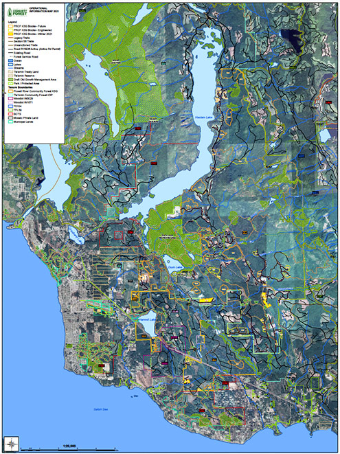 Powell River Community Forest Map